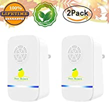 ChanviPest Control Ultrasonic Repeller for Mosquitoes- SAFE for Children and Pets - Quickly eliminates flies, cockroaches, spiders, fleas, mice, rats, and other pests. (2)