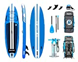 "iROCKER All-Around Inflatable Stand Up Paddle Board 10' Long 32"" Wide 6"" Thick SUP Package 