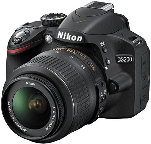 NIKON D3200 with AF-S DX 18-55mm f/3.5-5.6 VR II Kit, Black