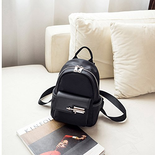 Bag Door Beauty Fashionable Canvas Packages Women Backpack Backpack Small A Small Oxford Red Black Small Day Latch Cloth Pack My 6pqwrZT6