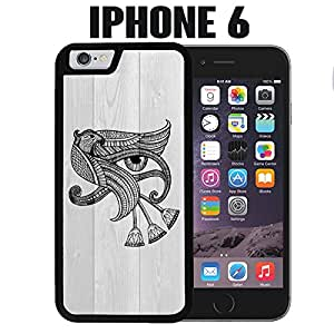 iPhone Case Eye of Horus on Wood for iPhone 6 Plastic Black (Ships from CA)