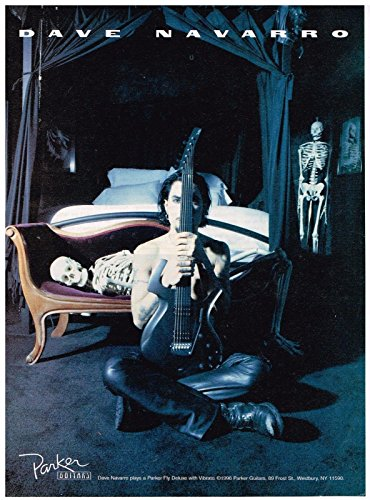 Parker Guitars - Parker Fly Deluxe with Vibrato - Dave Navarro - 1996 Print Ad
