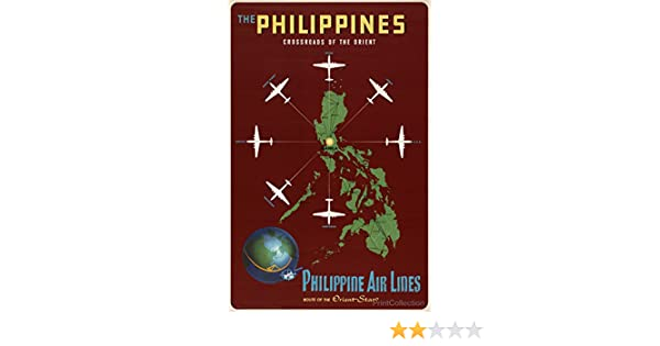 20x30 1953 Philippine Air Lines Crossroads of the Orient Vintage Travel Poster