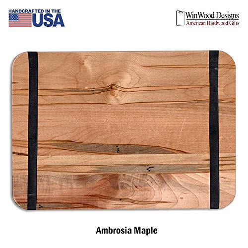 Banded Wood Menu Boards Hardwood Menu Holder Ambrosia Maple 9.5