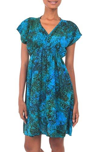 Rainforest Batiks (NOVICA Green Batik Rayon Dress, Rainforest Green')