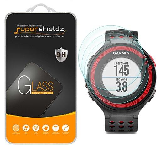 [3-Pack] Supershieldz for Garmin Forerunner 220/225 / 230/235 / 620/630 Tempered Glass Screen Protector, Anti-Scratch, Anti-Fingerprint, Bubble Free, Lifetime Replacement
