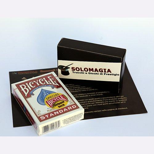 Mazzo di Carte Bicycle Carte da gioco Stripper Deck Rosso Mazzi Bicycle - Mazzo Conico con omaggio e istruzioni esclusive SOLOMAGIA