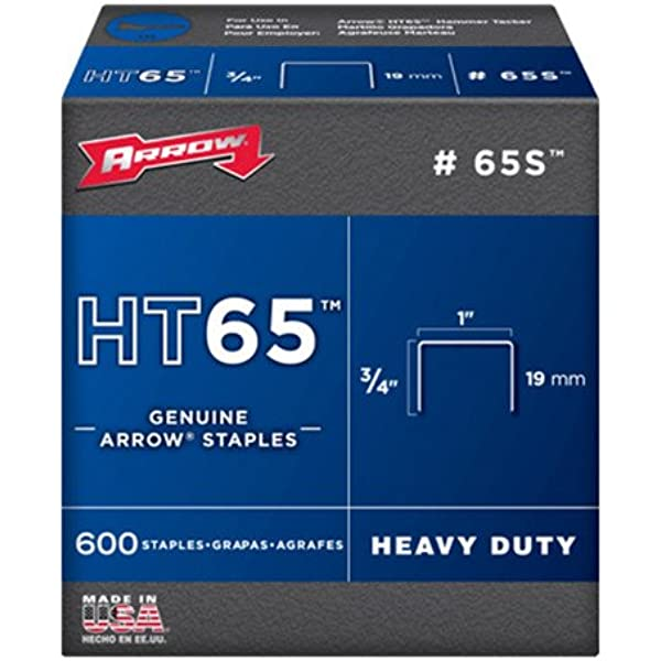 Arrow Fastener 65S 3//4-Inch HT65 Staples 600-Pack