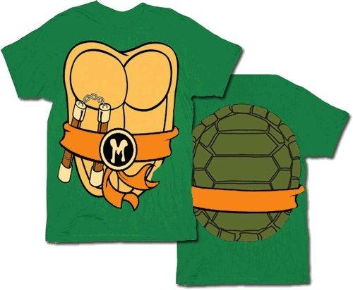 TMNT Teenage Mutant Ninja Turtles Costume Green Michelangelo Toddler T-shirt (Orange Michelangelo) (Toddler 2T) ()