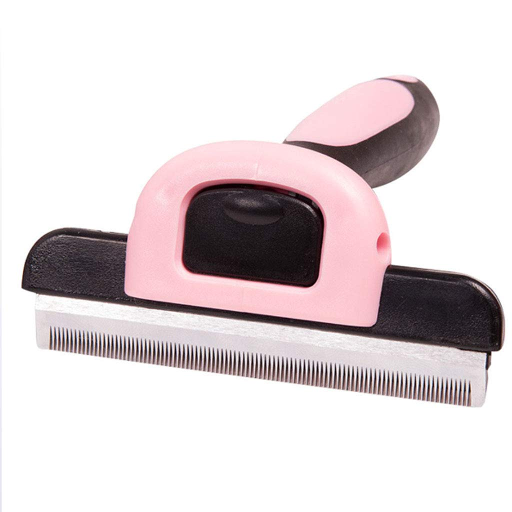 YUEBAOBEI Pet Deshedding Brush, Professional Grooming Tool,Dog Hair & Cat Hair Shedding Tool,Effectively Reduces Shedding by Up to 95%,B,S