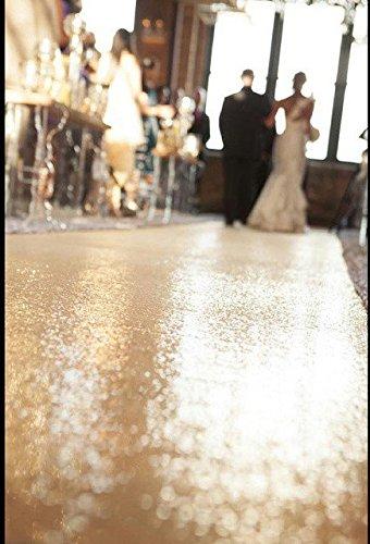 Wedding Carpet Aisle Runner-Light Gold-50ftx4ft Sequin Aisles Floor Runner by ShiDianYi