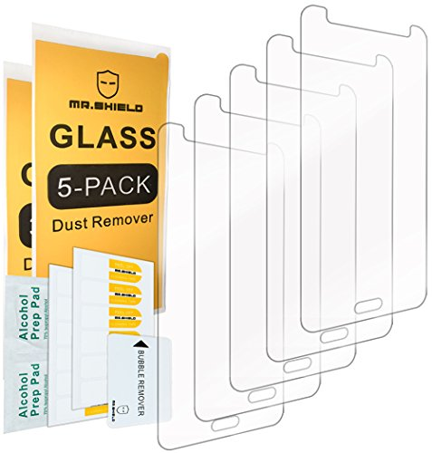 [5-Pack]- Mr.Shield for Samsung Galaxy Grand Prime [Tempered Glass] Screen Protector [0.3mm Ultra Thin 9H Hardness 2.5D Round Edge] with Lifetime Replacement