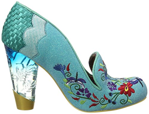 Irregular Mujer Azul Tacones Turquesa Showers April Choice IxqFwIUA