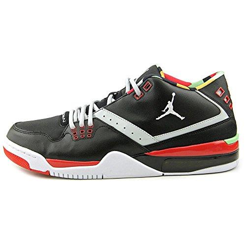 Jordan Nike Mens Flight23 Scarpe Da Basket Nero Grigio Foschia Università Rosso