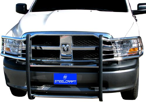 Steelcraft 52267, Custom Fit 2010-2016 Dodge RAM 2500/3500 (Will Interfere with Sensors, if Equipped) Grill Bumper Brush Guard Bull Bar - Steelcraft Grill Guard