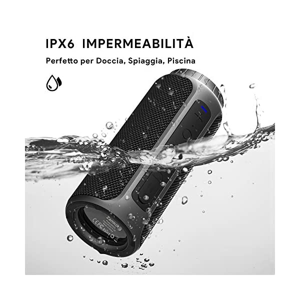 Zamkol Cassa Bluetooth 5.0, 30W HD Stereo Altoparlante Portatile con Bassi Potenti, IPX6 Waterproof Speaker bluetooth… 4 spesavip