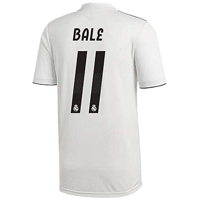 1af39e447 #11 Bale Real Madrid Home Soccer Jersey 2018-2019 Season Mens White Size L