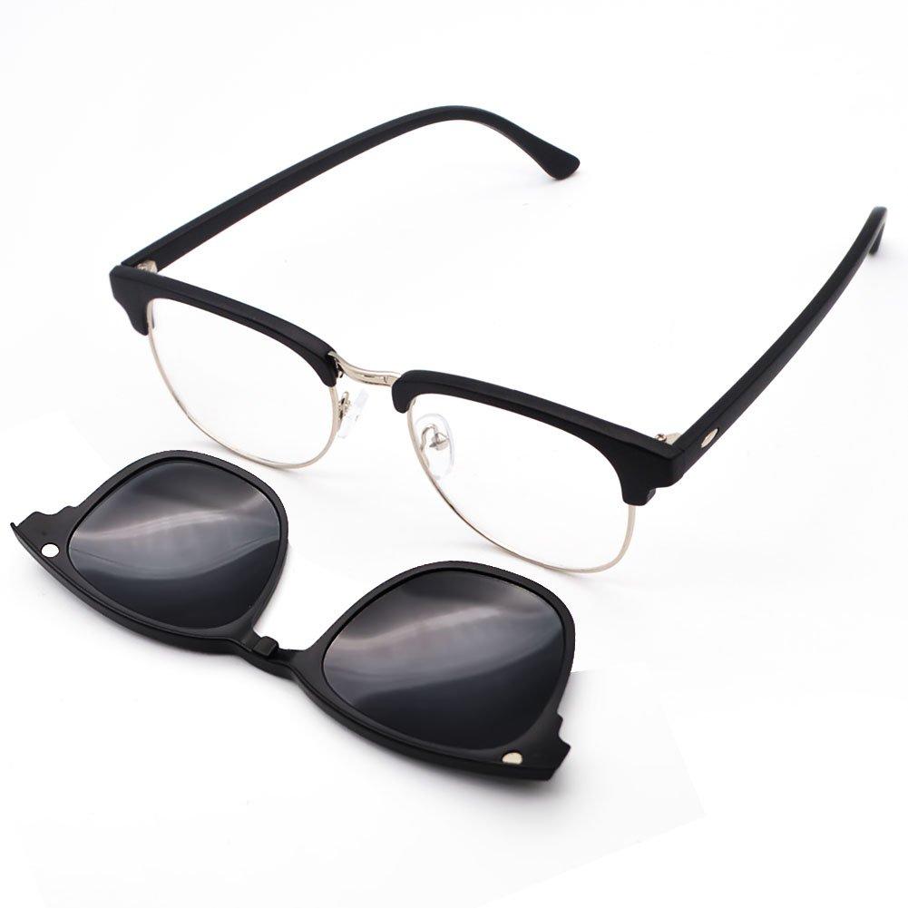 d237f15009 GreeSuit Gafas de sol con lentes 6 en 1 anteojos de metal con montura con  clip antideslumbrante magnético lentes de conducción gafas de sol gafas  ópticas ...