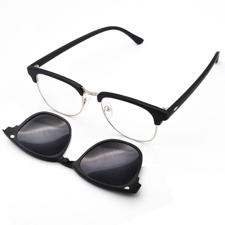 GreeSuit Gafas de sol con lentes 6 en 1 anteojos de metal con ...