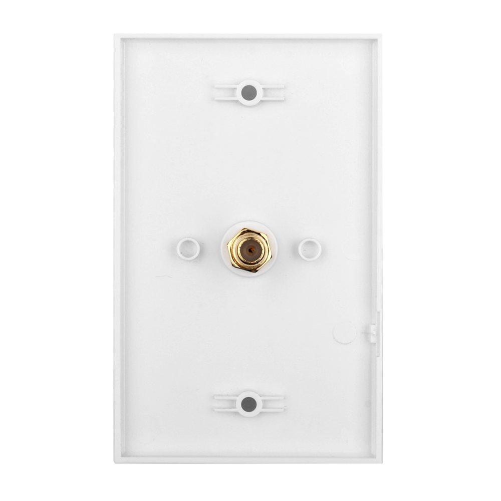 Tnp Coaxial Connector Wall Plate Video Coax Input F Wiring Phone Jack Female Socket Plug