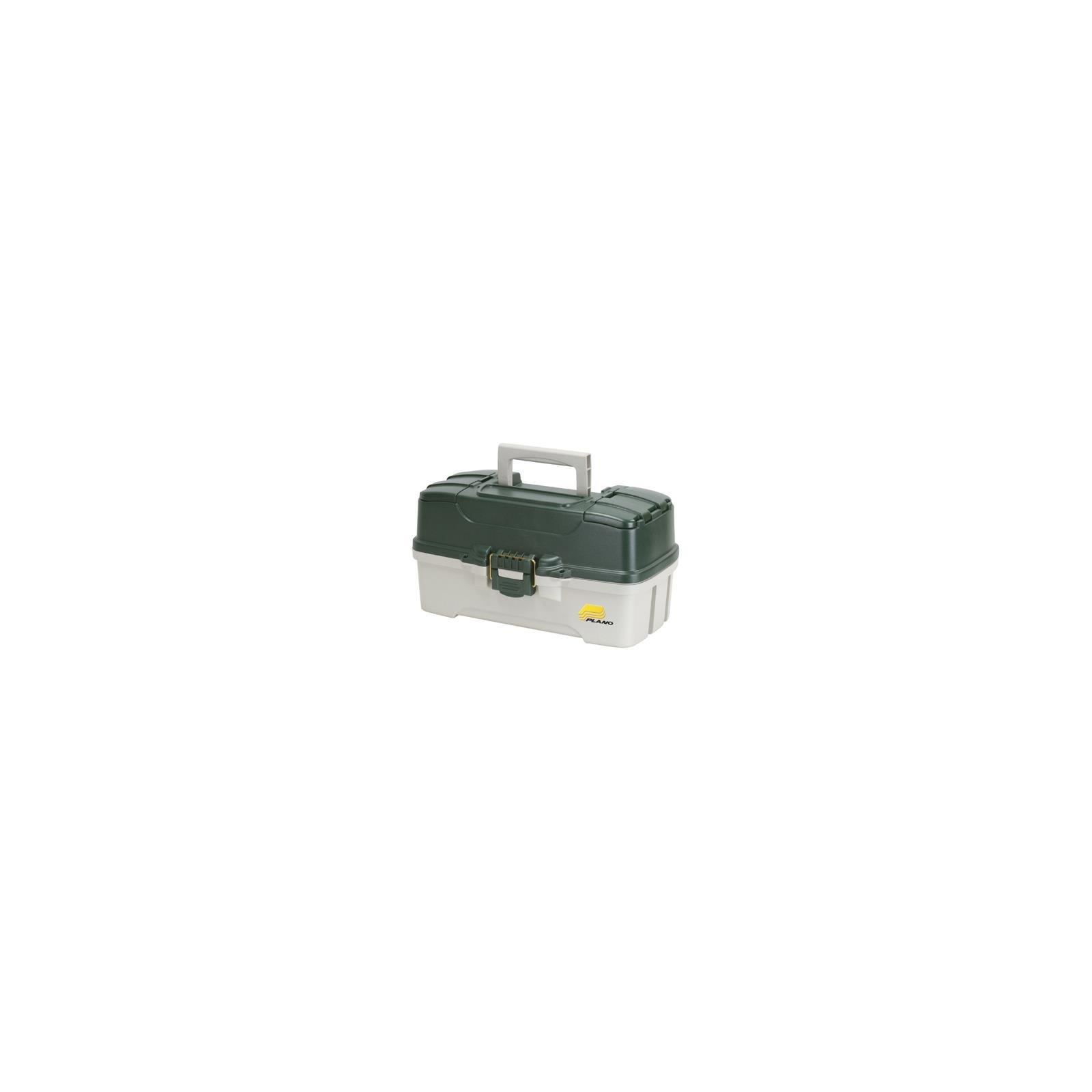Plano Molding 620304 Fishing Tackle Box, Green Metallic/Off White, 3-Tray - Quantity 4 by Plano Molding Co