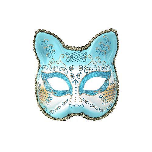 Vetasac Venetian Masquerade Masks for Women Cat Face