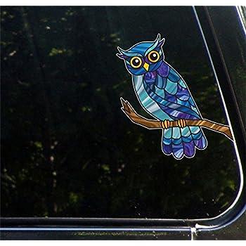 Amazoncom OSMdecals Animal Owl Sugar Skull Sticker Version - Owl custom vinyl decals for car
