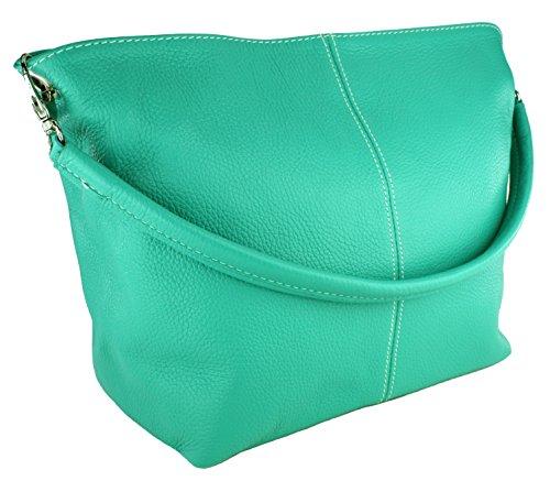 Turquesa turquesa de Made Bolso shopper in claro cuero DELARA color Claro Italy 6XwvqRW7nx