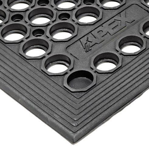 NoTrax T30 General Purpose Rubber Competitor Safety/Anti-Fatigue Mat, for Wet Areas, 3' Width x 3' Length x 1/2