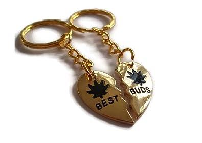 Halo accesorios Best Buds letras enchapadas en oro colgante ...