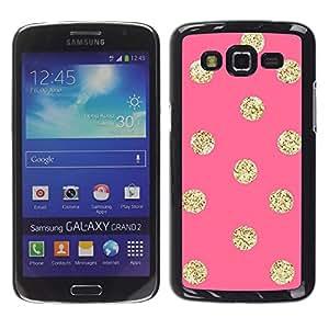 For Samsung Galaxy Grand 2 II / SM-G7102 / SM-G7105 Case , Gold Pattern Peach Polka Dot - Diseño Patrón Teléfono Caso Cubierta Case Bumper Duro Protección Case Cover Funda
