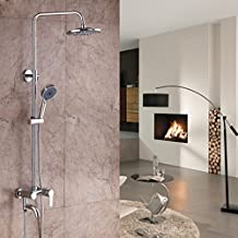 DLBAN Copper Rain Shower Hot And Cold Faucet Satin Finish Electroplating Hand-held Top Spray Bubble Shower