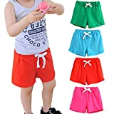 #6: Fineser Toddler Little Boys Girls Kids Cotton Soft Harem Pants Pure Color Baby Shorts