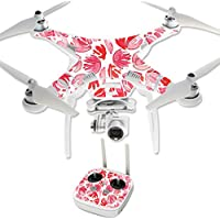 MightySkins Protective Vinyl Skin Decal for DJI Phantom 3 Professional Quadcopter Drone wrap cover sticker skins Red Petals