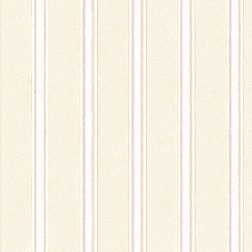 Norwall AB27638 Large Scale Stripes Wallpaper, Pink (Large Scale Stripe Wallpaper)
