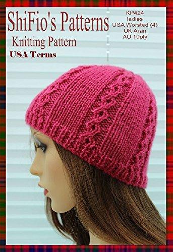 Knitting Pattern Kp424 Ladies Hat Beanie Usa Terminology Ebook