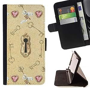 Momo Phone Case / Flip Funda de Cuero Case Cover - Oíd Valentines Clave Significado Profundo - Huawei Ascend P8 (Not for P8 Lite)