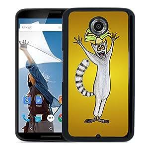 Beautiful Designed Cover Case With Madagascar Julian King Minimalism Ring Tailed Lemur Art For Google Nexus 6 Phone Case