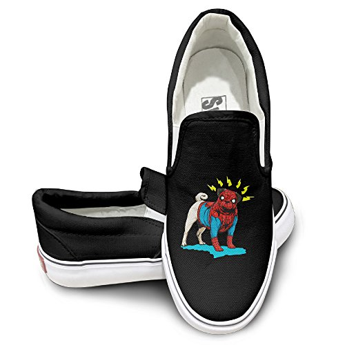 [EWIED Unisex Classic Spider Cute Dog Slip-On Shoes Black Size40] (Devil May Cry 3 Costumes)