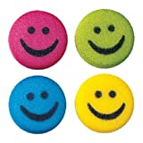 Lucks Dec-Ons Decorations Molded Sugar/Cup-Cake Topper, Medium Happy Faces Assortment, 1 Inch, 312 Count