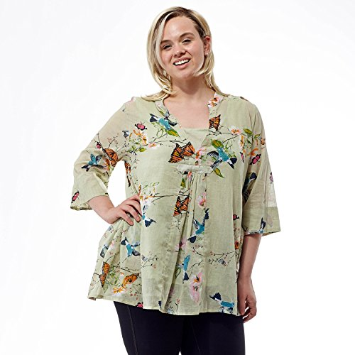 La Cera Women's Printed Top Plus Size