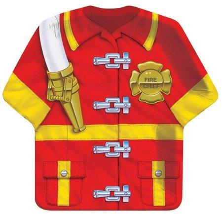 Creative Converting Firefighter Shirt Shaped Dinner Plates - 8 (Shirt Shaped Dinner Plates)
