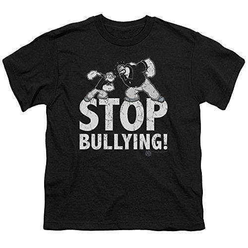 - Popeye Stop Bullying Big Boys Shirt BLACK MD