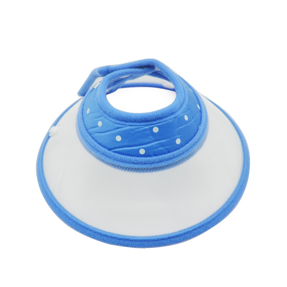 Recovery Pet Cone Elizabethan Collar-Dog Puppy Cat Rabbit Pet Remedy Wound Healing Recovery Collar Protective Adjustable with Breathable Soft Edge (L, Blue)