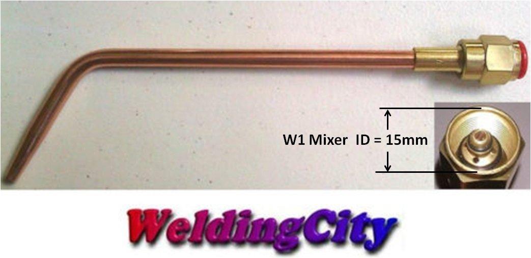 WeldingCity Welding Brazing Nozzle Tip 4-W-1 #4 with W-1 Mixer for Victor 100 Series Handles