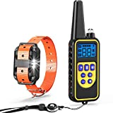 Dog Shock Collar, Veckle Waterproof  Remote Training Collar for Dog Electronic Collar Training with LED Beep Vibration Shock Collar for Large and Medium Dogs For Sale