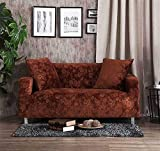Icegrey Vintage Slipcover Loveseat Stretch Sofa Covers Jacquard Coffee Armchair 35-55in