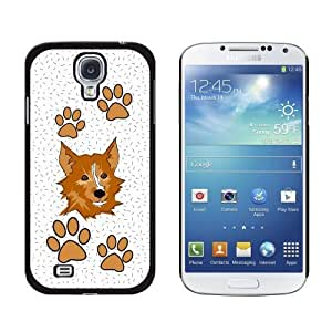 New style Corgie of Brilliance Snap-On Hard Protective Case for Samsung Galaxy S4 - Non-Retail Packaging - Black