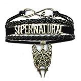 DOLON Infinity Love Supernatural Bracelet Pentagram Wings Charm Inspired Jewelry