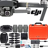 DJI Mavic Pro Fly More Combo with Custom Nanuk Waterproof Hard Case (Orange)